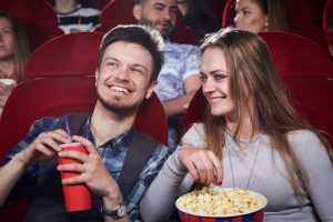 Neurodiverse adult on a date at the movies after attending an autism therapy social skills group in Palo Alto, CA 94306 at Open Doors Therapy in the Bay Area of Silicon Valley