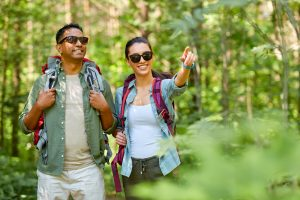 Two neurodiverse adults on a hike around the south bay area showing how social skills help while dating. One partner attends an autism social skills group in Palo Alto, CA 94306